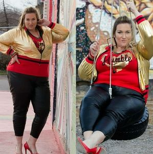 Jackets & Blazers - Metallic Gold Jacket